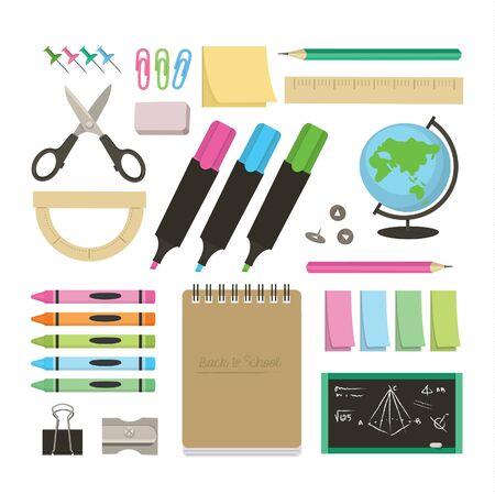Back to school vector set Stock Vector - 35468556