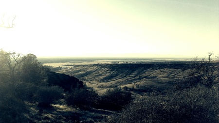 disc golf: Panoramic View of Peregrine Point Disc Golf Course in Chico California