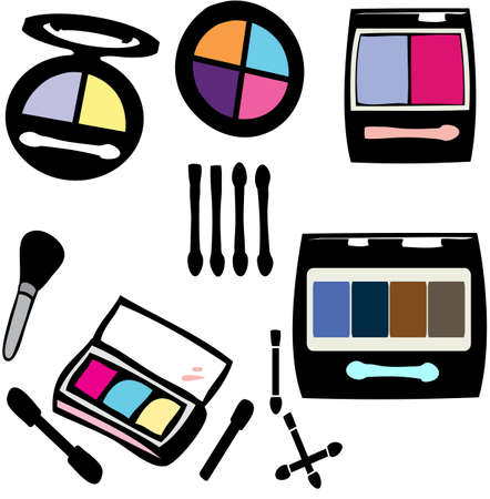 complexion: Make-up eye shadows set Illustration