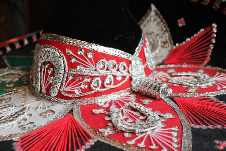 sequin and decorative ornate mexican hat ready for a fiesta photo