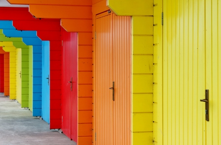 Beach huts at Scarborough photo