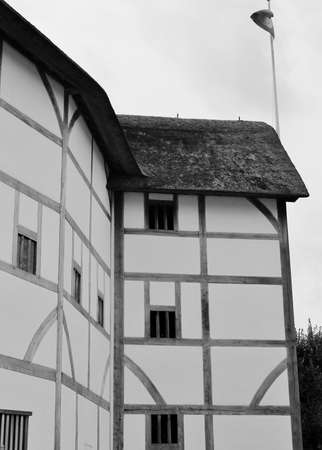 Shakespeare Globe Theatre medieval style building Stock Photo - 24589775