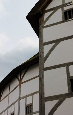 Shakespeare Globe Theatre medieval style building Stock Photo - 24589778