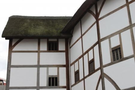 Shakespeare Globe Theatre medieval style building Stock Photo - 24589779