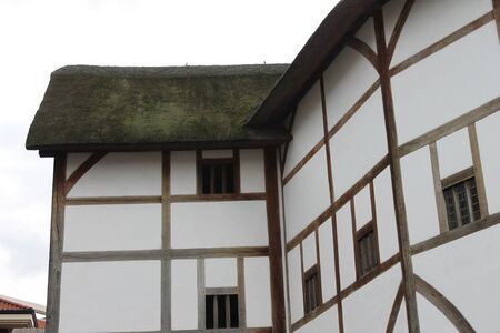 Shakespeare Globe Theatre medieval style building Stock Photo - 24589780