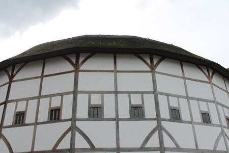 Shakespeare Globe Theatre medieval style building Stock Photo - 24589781