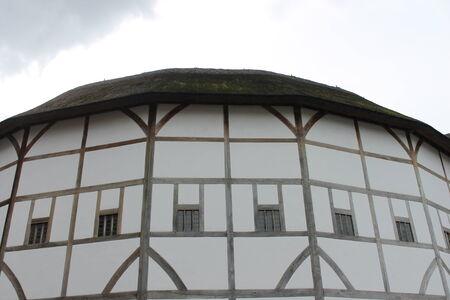 globe theatre: Shakespeare Globe Theatre medieval style building