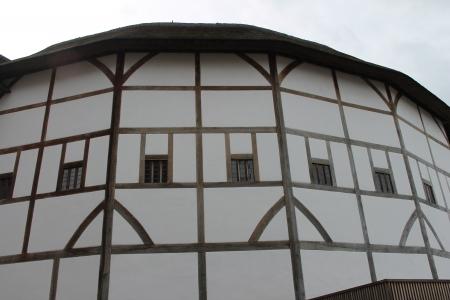 globe theatre: Shakespeare Globe Theatre medieval style building windows detail