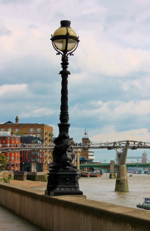 Westminster lamppost by Millenium Bridge London photo