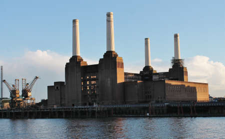 Battersea power Station on the River Thames, London photo