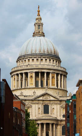 saint pauls cathedral: St  Pauls Cathedral London - Stock Photo