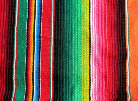 serape: mexican handwoven rug poncho fiesta with stripes and bright colors