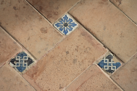 moorish tiles in Seville Spain photo