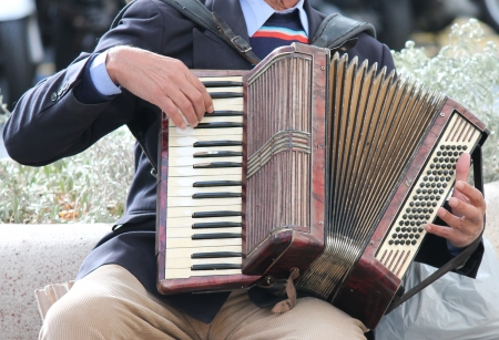 accordion being played