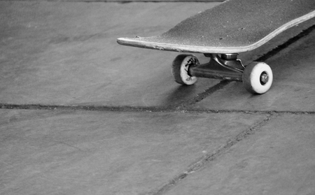 skateboard with copyspace Stock Photo