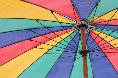 Color pattern of an umbrella  photo