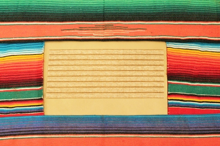 mexico fabric background frame Banco de Imagens - 25759005