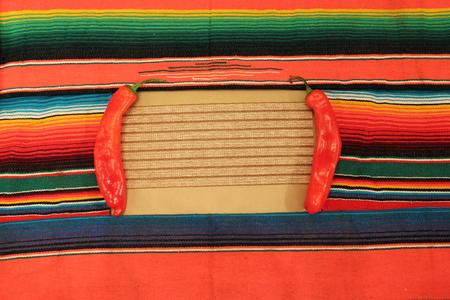 mexico fabric background frame photo