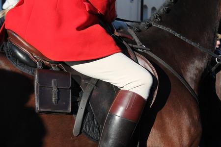 kurtka: Myśliwy na koniu