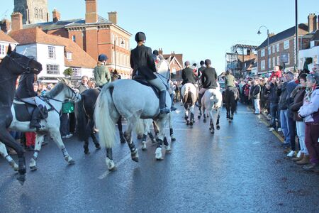 weald: Huntsman ready for the fox hunt on horse
