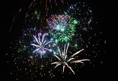 Fireworks Display event background Stock Photo - 25993017