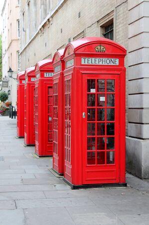 payphone: Red telephone pay phone London England UK