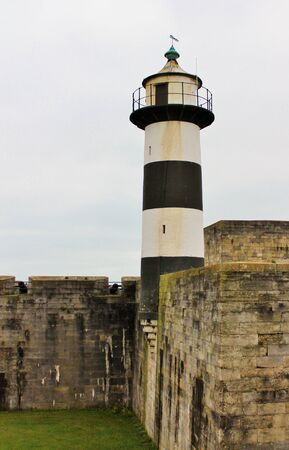 portsmouth: Stripe Lighthouse in Portsmouth England