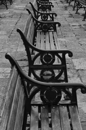 vp: row of benchs on promanade