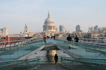 St Pauls cathedral and Millenium bridge