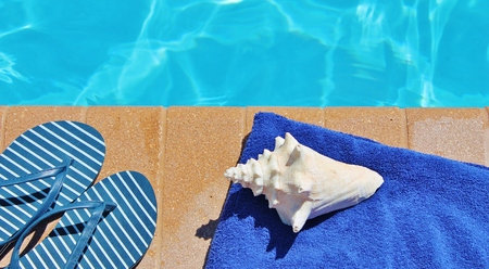 Poolside holiday vacation scenic swimming pool summer photo