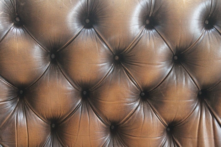 leather sofa button background dark brown photo
