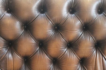 leather sofa button background dark brown photo
