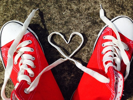 baseball boots sneakers with love heart photo