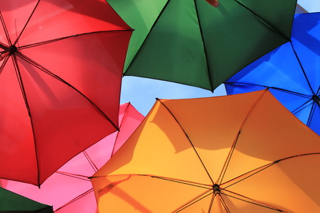 umbrellas open photo