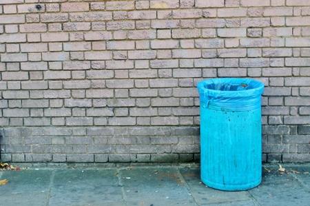 Trash can dustbins outside photo