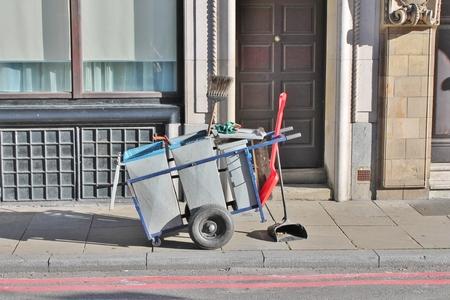street sweeper cart photo