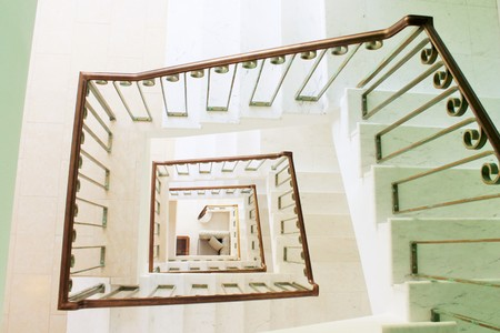 deepness: Spiral square stairs viewed from above