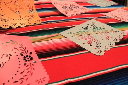 poncho serape background fiesta cinco de mayo decoration bunting flags