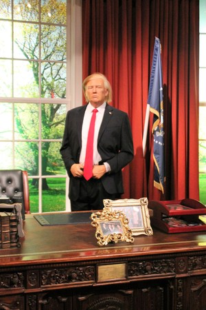 Donald Trump, London, United Kingdom - March 20, 2017: Donald Trump wax figure at Madame Tussauds London Editorial