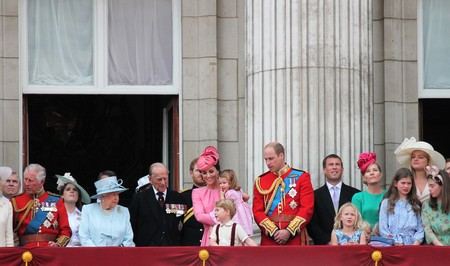 prince charles of england: Queen Elizabeth & Royal Family, Buckingham Palace, London June 2017- Trooping the Colour Prince George William, harry, Kate & Charlotte Balcony for Queen Elizabeths Birthday June 17 2017 London, UK