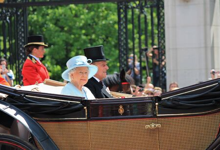 appearance: Queen Elizabeth & Royal Family, Buckingham Palace, London June 2017- Trooping the Colour Prince Georges first appearance on Balcony for Queen Elizabeths Birthday, June 17, 2017 London, England, UK