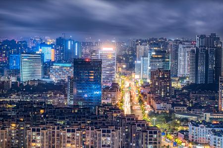 Zhongshan City, Zimaling night view