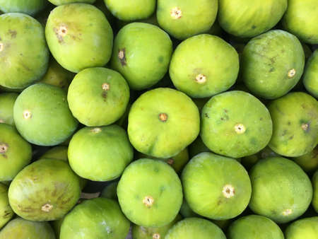 Fresh green figs at the market