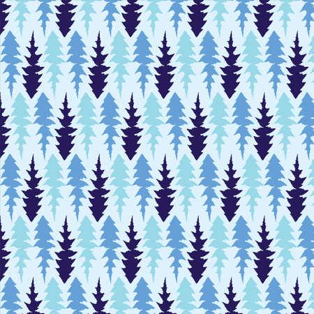 Hand drawn Dandelion leaves vector pattern in blue color palette Reklamní fotografie - 105600647