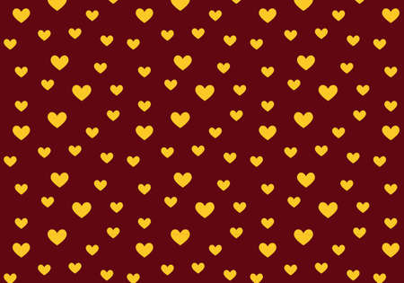 Vector hearts pattern in red and gold colors palette. Valentine background Reklamní fotografie - 105670466