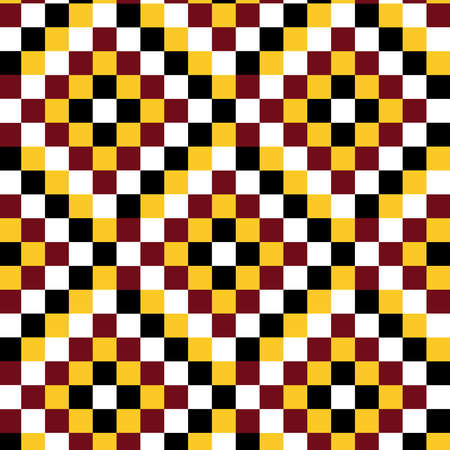 Squares vector pattern in yellow, red and black colors palette