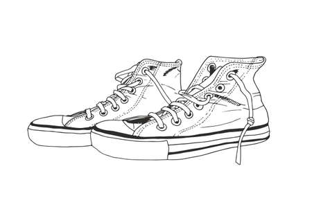 Sneakers vector illustration