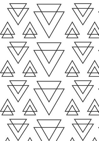 Triangle geometric vector pattern Stock Vector - 106092443