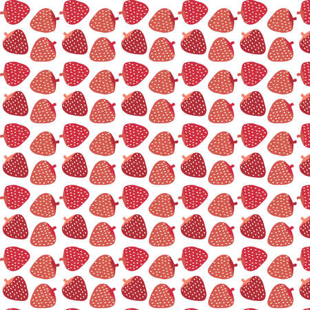 Strawberry simple vector pattern background
