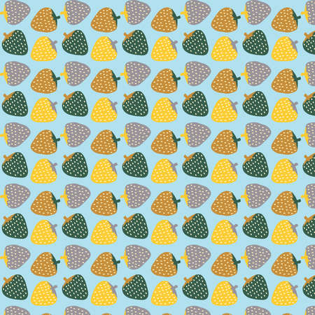 Strawberry abstract colorful vector pattern background Иллюстрация